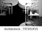 abstract dynamic interior with... | Shutterstock . vector #757351915