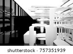 abstract dynamic interior with... | Shutterstock . vector #757351939