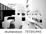abstract dynamic interior with... | Shutterstock . vector #757351945