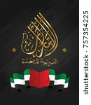 vector of united arab emirates... | Shutterstock .eps vector #757354225