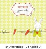 sweet bunny card | Shutterstock .eps vector #75735550