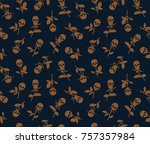 vector seamless pattern with... | Shutterstock .eps vector #757357984