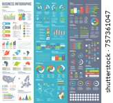 infographic vector elements for ... | Shutterstock .eps vector #757361047