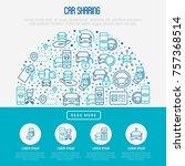 car sharing concept in half... | Shutterstock .eps vector #757368514