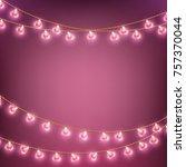 happy valentines day garland... | Shutterstock .eps vector #757370044