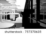 abstract dynamic interior with... | Shutterstock . vector #757370635
