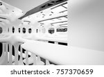 abstract dynamic interior with... | Shutterstock . vector #757370659