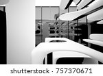abstract dynamic interior with... | Shutterstock . vector #757370671