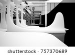 abstract dynamic interior with... | Shutterstock . vector #757370689