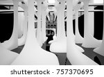 abstract dynamic interior with... | Shutterstock . vector #757370695
