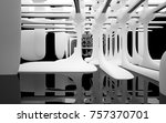 abstract dynamic interior with... | Shutterstock . vector #757370701