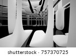 abstract dynamic interior with... | Shutterstock . vector #757370725