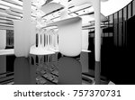 abstract dynamic interior with... | Shutterstock . vector #757370731