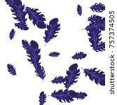 feather pattern  bright...   Shutterstock .eps vector #757374505