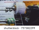 card printer and cutter. | Shutterstock . vector #757382299