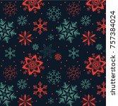 christmas ornament pattern... | Shutterstock .eps vector #757384024