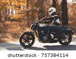 a young guy in a helmet is... | Shutterstock . vector #757384114