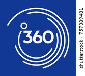 360 vector corporate logo | Shutterstock .eps vector #757389481