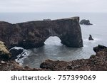 natural arch of dyrholaey... | Shutterstock . vector #757399069