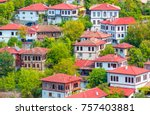 traditional ottoman houses in... | Shutterstock . vector #757403881