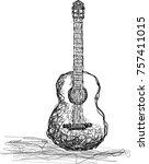 vector hand drawn illustration...   Shutterstock .eps vector #757411015