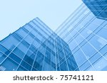 futuristic downtown in the dawn | Shutterstock . vector #75741121
