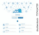 shopping  e commerce concept... | Shutterstock .eps vector #757414759
