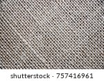 brown hemp fiber waver texture... | Shutterstock . vector #757416961
