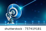 a large satellite dish... | Shutterstock .eps vector #757419181
