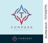 compass initial letter t logo... | Shutterstock .eps vector #757430791
