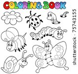 coloring book with small... | Shutterstock .eps vector #75743155