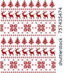 new year  christmas and winter... | Shutterstock .eps vector #757435474
