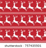 new year  christmas and winter... | Shutterstock .eps vector #757435501