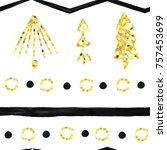 seamless vector patterns.... | Shutterstock .eps vector #757453699
