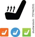 car seat temperature icon  | Shutterstock .eps vector #757462531