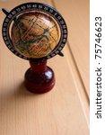 small decorative antique globe...   Shutterstock . vector #75746623