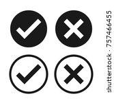 Check Box List Icons Set  Blac...