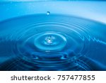 Small photo of Water drop on water
