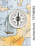 compass on a map | Shutterstock . vector #75748081