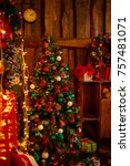 new year's decorations and gifts | Shutterstock . vector #757481071