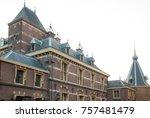 binnenhof palace  place of... | Shutterstock . vector #757481479
