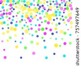 colored confetti points are... | Shutterstock .eps vector #757497649