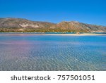 elafonisi beach with the pink... | Shutterstock . vector #757501051