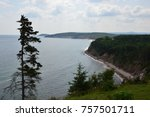 carbot trail in cape breton... | Shutterstock . vector #757501711