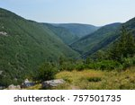 carbot trail in cape breton... | Shutterstock . vector #757501735