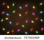 set of color garlands  festive... | Shutterstock .eps vector #757502989