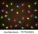 set of color garlands  festive... | Shutterstock . vector #757503001
