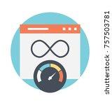 speedometer and web... | Shutterstock .eps vector #757503781
