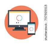 the loading signs in two... | Shutterstock .eps vector #757505515