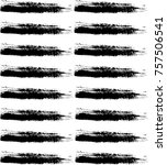 black ink vector hand made... | Shutterstock .eps vector #757506541